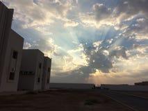 drastische Sonnenstrahlen stockbilder