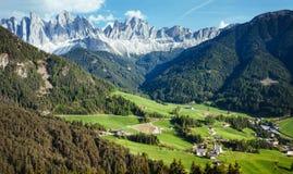 Drastische Szene in den Dolomit stockfotografie