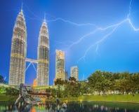 Drastische Szene des Gewitters auf Malaysia Lizenzfreies Stockfoto