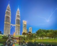 Drastische Szene des Gewitters auf Malaysia Lizenzfreies Stockbild