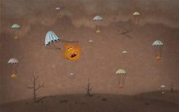 Drastische Tapete des Herbstes Stockfoto
