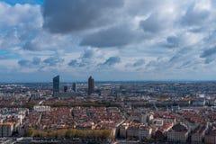 Drastischer Himmel über Lyon Lizenzfreie Stockfotografie