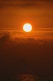 Drastischer Sonnenuntergang Stockbild