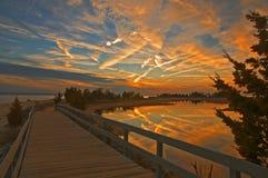 Drastischer Sonnenuntergang Lizenzfreie Abbildung