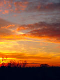 Drastischer Sonnenuntergang Stockbilder