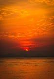 Drastischer Sonnenuntergang Lizenzfreies Stockfoto