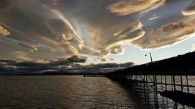 Drastischer Sonnenuntergang Stockfotografie