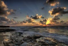 Drastischer Sonnenuntergang HDR Stockfotos