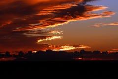 Drastischer Sonnenuntergang in Teneriffa, Spanien Stockfotos