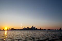 Drastischer Sonnenuntergang, Toronto, Kanada Stockfotos