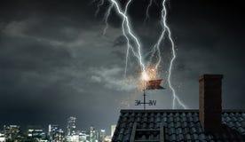 Drastischer Wetterhintergrund Gemischte Medien Lizenzfreie Stockbilder