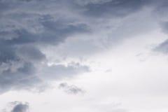 Drastisches Cloudscape vom Hurrikan Matthew lizenzfreies stockfoto