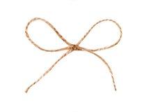 Dratwa sznurek wiążący w łęku odizolowywającym obrazy stock