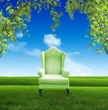Draußen entspannt lizenzfreie abbildung