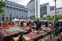 Draußen Flohmarkt in Stockholm, Schweden Lizenzfreie Stockfotos