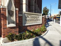 Draußen von USC-Universität von Süd-Kalifornien stockbild