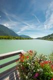 Drau河和drau周期路线 库存图片