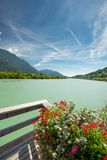 Drau river and drau cycle route Stock Image