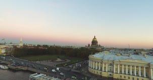 Draufsicht über die Stadt St Petersburg Russland stock footage