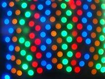 Draufsicht über die unscharfen hellen Kreise färbte Zusammenfassung Stockbilder