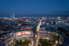 Draufsicht über Fernsehturm, Berlin Cathedral - deutsche Bewohner von Berlin Dom Lizenzfreies Stockfoto
