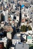 Draufsicht über Wohngebäude in Tokyo Stockbild