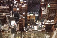 Draufsicht über Wolkenkratzer Stockbilder