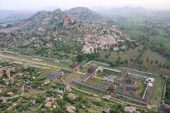 Draufsicht Achyutaraya-Tempels, Hampi, Indien Lizenzfreies Stockfoto