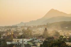 Draufsicht auf Myanmar Stockbild