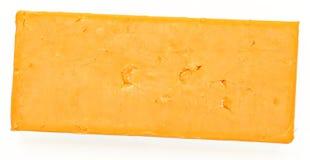 Draufsicht-Block des Cheddar-Käses Stockbilder
