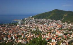 Draufsicht Budva Montenegro Lizenzfreie Stockbilder