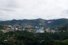 Draufsicht in dalat Stadt Vietnam lizenzfreies stockbild