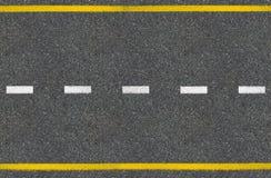 Draufsicht der Asphaltstraße lizenzfreie stockbilder