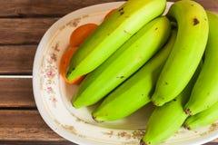 Draufsicht der Bananengruppe lizenzfreie stockfotos