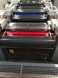 Draufsicht der Druckmaschine stockfotografie