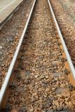 Draufsicht der Eisenbahnlinie Stockfotografie