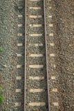 Draufsicht der Eisenbahnlinie Stockfotos