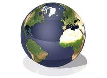 Draufsicht der Erde Lizenzfreie Stockfotos