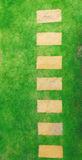 Draufsicht der Gartenbahn Stockbilder