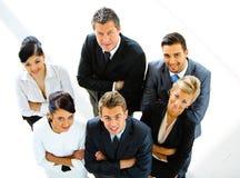 Draufsicht der Geschäftsleute Stockfoto