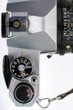Draufsicht der Hinter-Tor-Kamera Stockbild