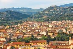 Draufsicht der historischen Mitte von Florenz Lizenzfreies Stockbild