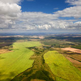 Draufsicht der Landschaft Lizenzfreie Stockfotos