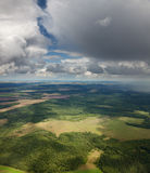 Draufsicht der Landschaft Stockfoto