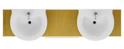 Moderne Doppelte Badezimmerwanne Lokalisiert Auf Weiß Stock ... Badezimmer Wanne