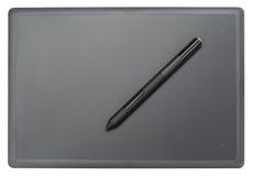 Draufsicht der modernen grafischen Tablette Stockbild