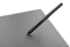 Draufsicht der modernen grafischen Tablette Stockfotos