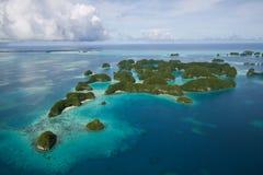 Draufsicht der Palau-Inseln Stockfotos