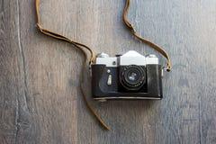 Draufsicht der Retro- Kamera Stockfotos