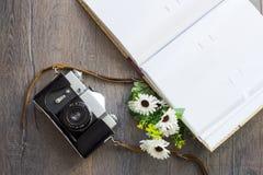 Draufsicht der Retro- Kamera Lizenzfreie Stockbilder